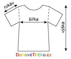 Rozměry trička